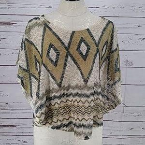 Body Central boho gypsy aztec cover top